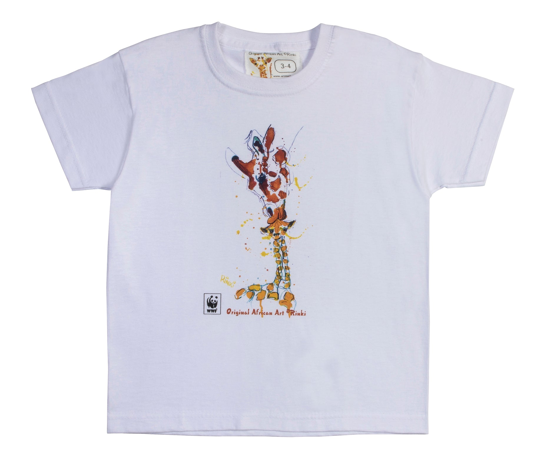 Rinki  Mom & Baby Giraffe White T-shirt