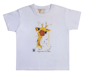 Rinki  Cheeky Giraffe White T-shirt
