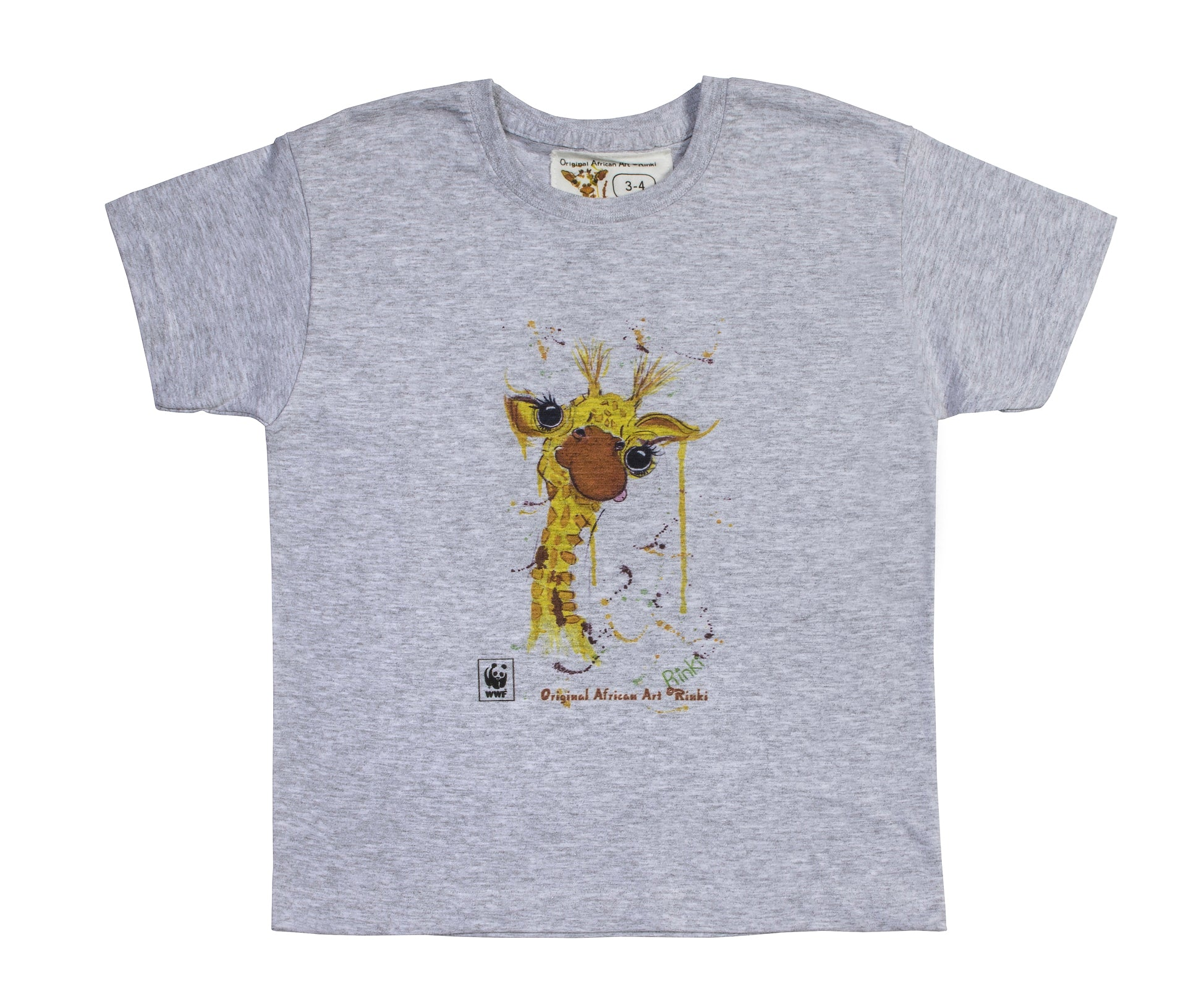 Rinki  Cheeky Giraffe Grey  T-shirt