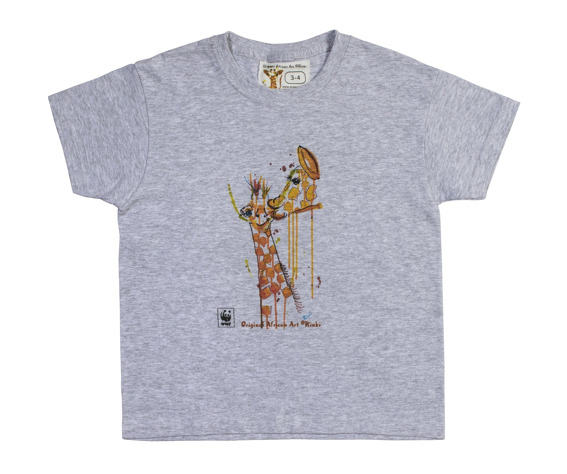 Rinki  Giraffe Bath-time Grey  T-shirt