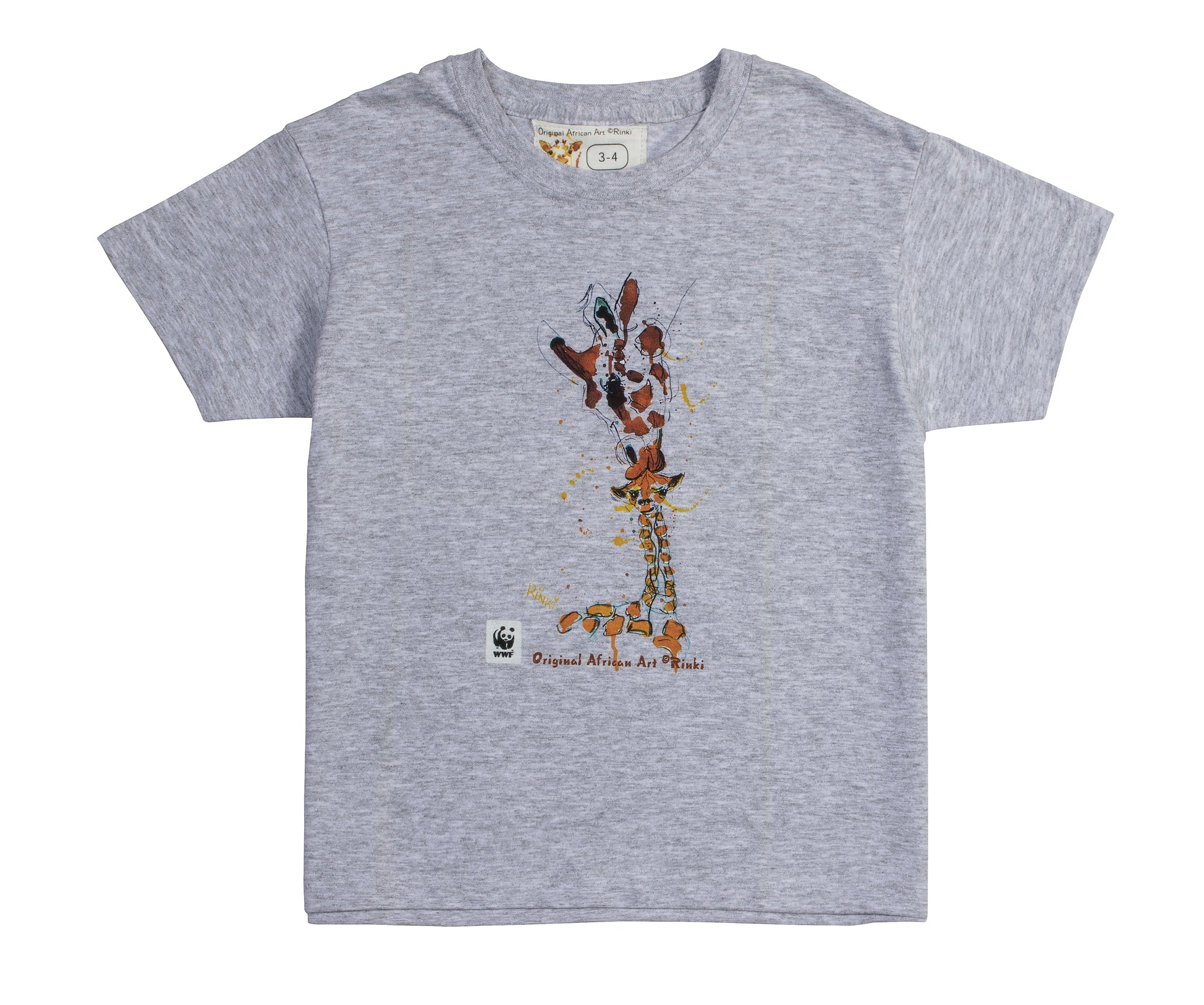 Rinki  Mom & Baby Giraffe Grey T-shirt