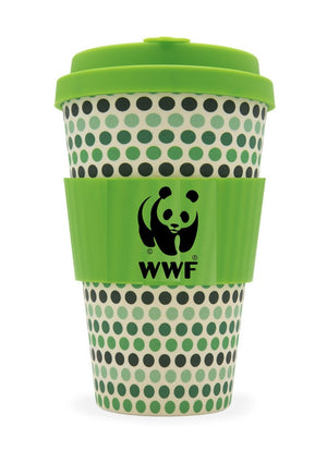 Green Polka Eco Coffee Cup 400ml
