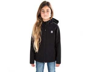 KIDS BLACK LEOPARD SOFTSHELL