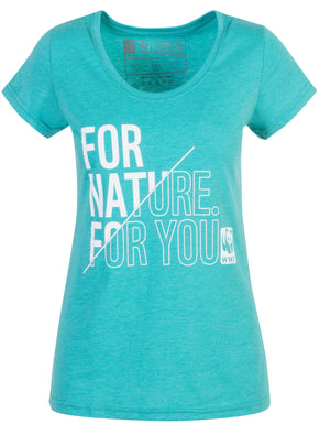 For Nature For You Teal Ladies T-Shirt