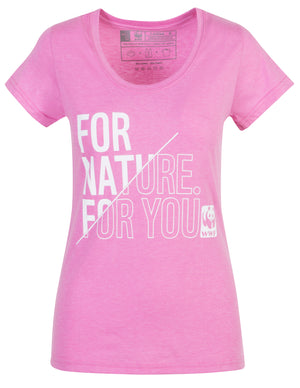 For Nature For You Lilac Ladies T-Shirt