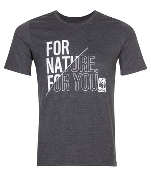 For Nature For You Charcoal Melange Men's T-Shirt