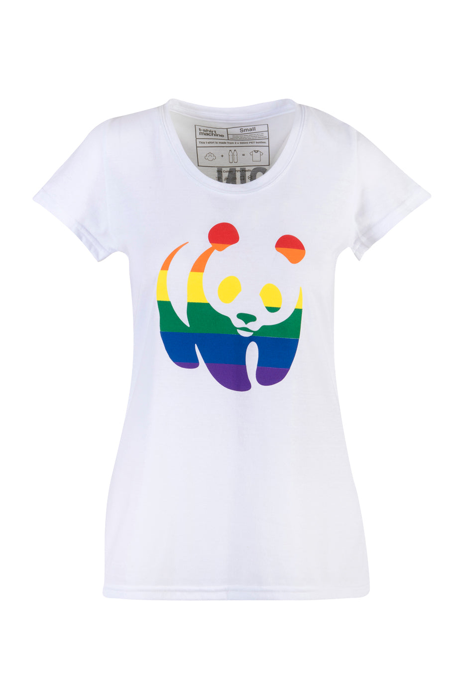 Rainbow Panda Ladies T-Shirt
