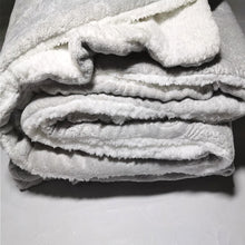 Load image into Gallery viewer, Winter Flannel Fleece Embossed Sherpa Comforter - CQ Linen Quality Bedding