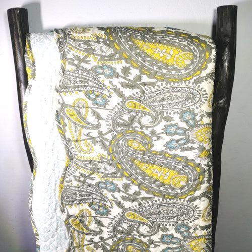 Luxury 100% Cotton Embroidered Quilt Set - Paisley - CQ Linen