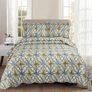 Luxury 100% Cotton Embroidered Quilt Set - Bella - CQ Linen Quality Bedding
