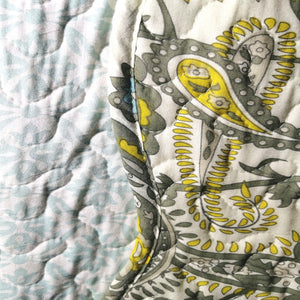Luxury 100% Cotton Embroidered Quilt Set - Paisley - CQ Linen Quality Bedding