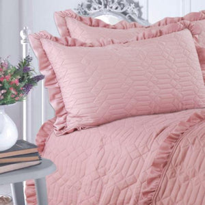 Luxury Soft Touch Ruffle Quilt Set - CQ Linen Quality Bedding