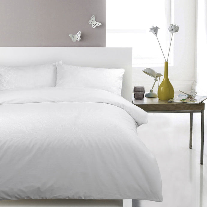 100% Cotton Embroidered Duvet Covet Set - Ambrosia - CQ Linen Quality Bedding