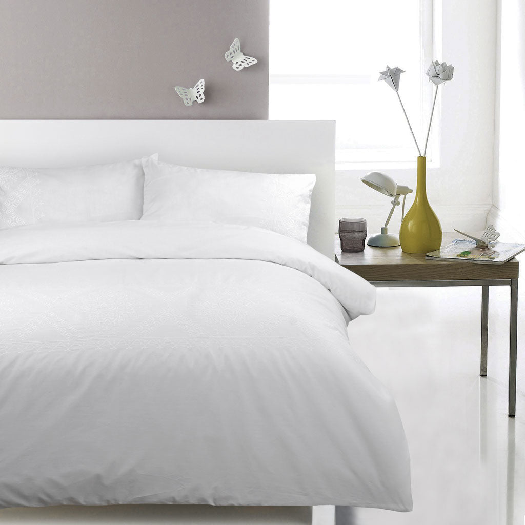 100% Cotton Embroidered Duvet Covet Set - Ambrosia - CQ Linen