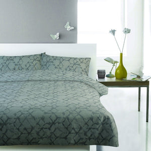 Cotton Jacquard Duvet Cover Set - Abstract Geometric - CQ Linen Quality Bedding