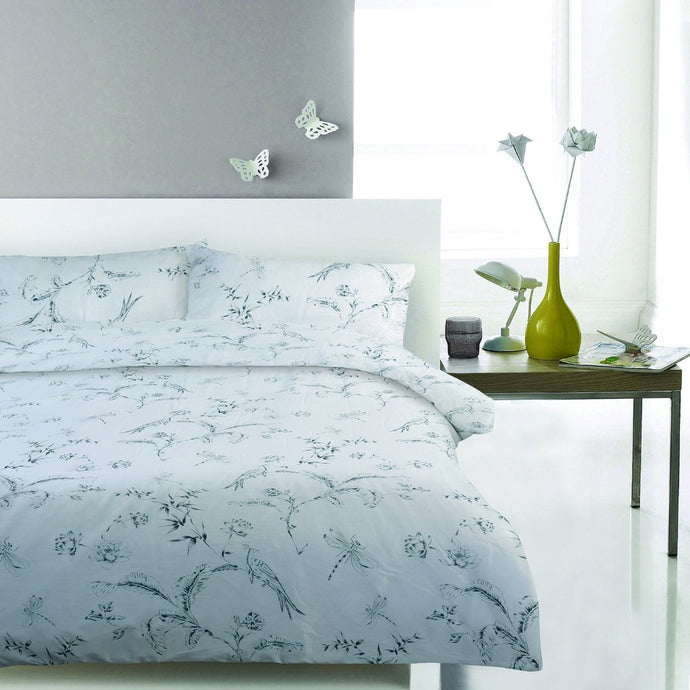 100% Cotton Sateen Duvet Cover Set - Modern Tropic - CQ Linen Quality Bedding