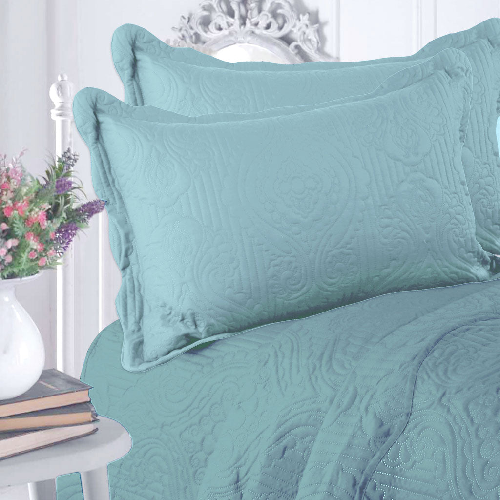 Luxury Microfibre Plain Quilt Set  (various colours) - CQ Linen Quality Bedding