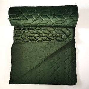 Quilt Blanket Velvet - Hunter Green - CQ Linen