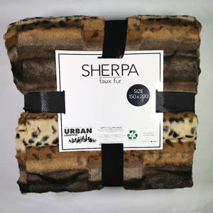 Faux Fur Throw With Sherpa - 150 x 200cm - CQ Linen Quality Bedding