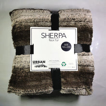 Load image into Gallery viewer, Faux Fur Throw With Sherpa - 150 x 200cm - CQ Linen Quality Bedding