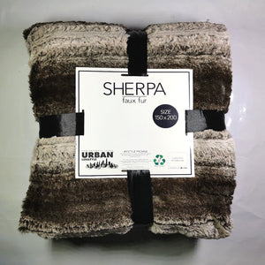 Faux Fur Throw With Sherpa - 150 x 200cm - CQ Linen