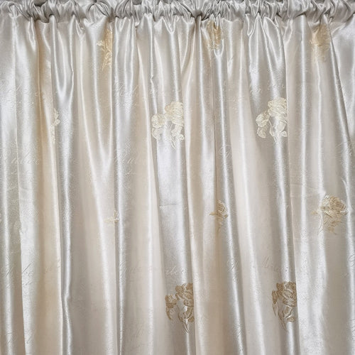 Elegant Rose Exclusive Jacquard Taped and Lined Curtain - 230x218cm - CQ Linen
