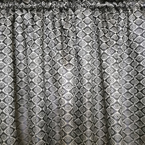Brown Spiral Exclusive Jacquard Taped and Lined Curtain - 230x218cm - CQ Linen Quality Bedding