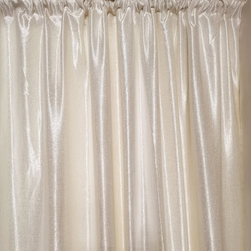 Ivory Exclusive Jacquard Taped and Lined Curtain - 230x218cm - CQ Linen Quality Bedding