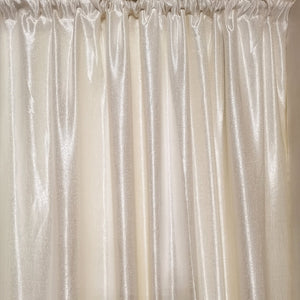 Ivory Exclusive Jacquard Taped and Lined Curtain - 230x218cm - CQ Linen
