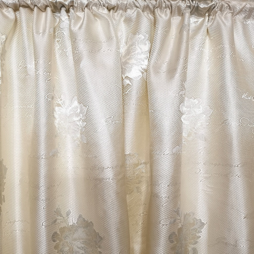 Script Exclusive Jacquard Taped and Lined Curtain - 230x218cm - CQ Linen Quality Bedding