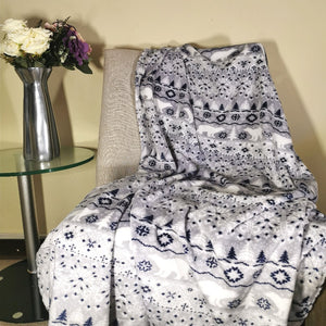 Flannel Fleece Throw - 150x200cm - CQ Linen Quality Bedding