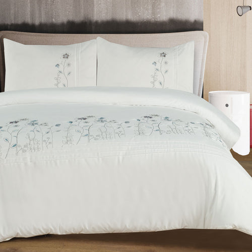 Soft Touch Embroidered Duvet Cover Set - Blossom - CQ Linen Quality Bedding