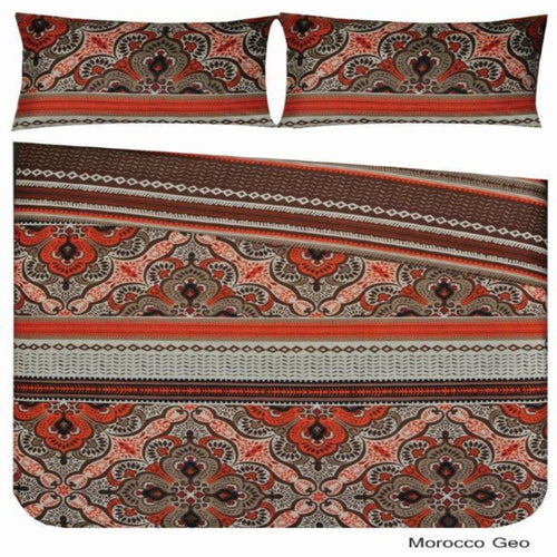 Microfibre Printed Comforter Set - Morocco Geo - CQ Linen Quality Bedding