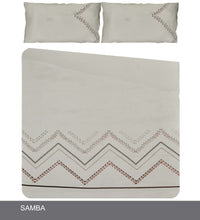 Load image into Gallery viewer, Soft Touch Embroidered Duvet Cover Set - Samba - CQ Linen Quality Bedding