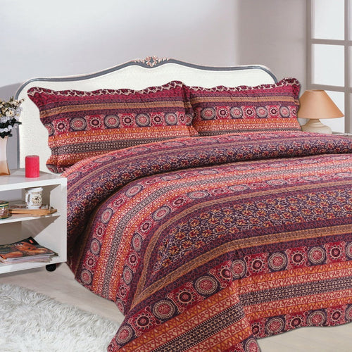 Microfibre Printed Quilt Set - Florence - CQ Linen Quality Bedding