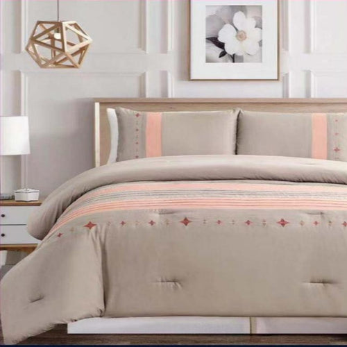 Microfibre Embroidered comforter set - Amara - CQ Linen Quality Bedding