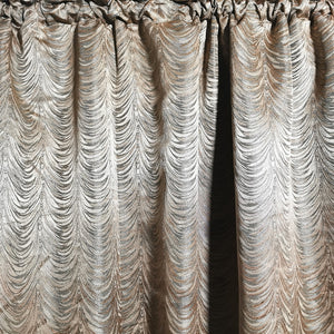 Lara Exclusive Jacquard Taped and Lined Curtain -230x218cm - CQ Linen