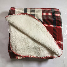 Load image into Gallery viewer, Flannel Fleece Throw with Sherpa - Assorted Designs - CQ Linen