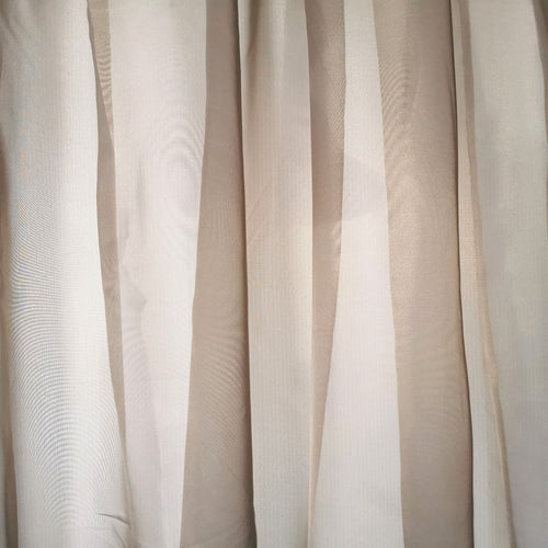 Sheer Voile Taped and unlined Curtain - 490x218cm (Extra Width) - CQ Linen