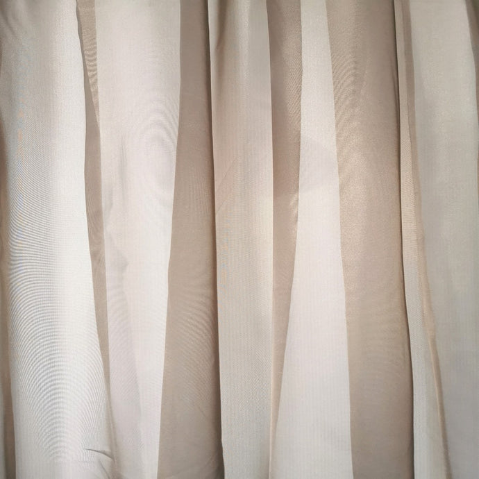 Sheer Voile Taped and unlined Curtain - 290x218cm (Extra Width) - CQ Linen