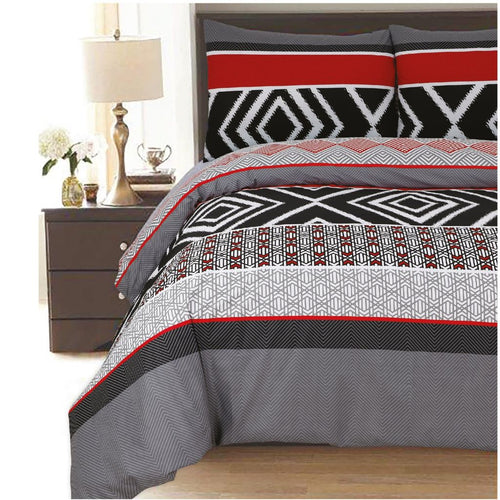 Diamond Polycotton Duvet Cover Set - CQ Linen Quality Bedding