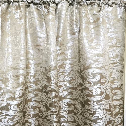 Floral Damask Exclusive Jacquard Taped and Lined Curtain - 230x218cm - CQ Linen