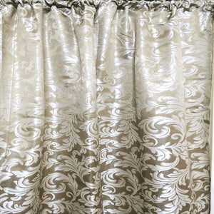 Floral Damask Exclusive Jacquard Taped and Lined Curtain - 230x218cm - CQ Linen Quality Bedding