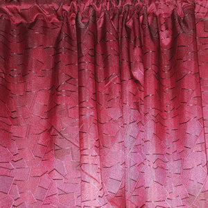 Geometric Exclusive Jacquard Taped and Lined Curtain - 230x218cm - CQ Linen