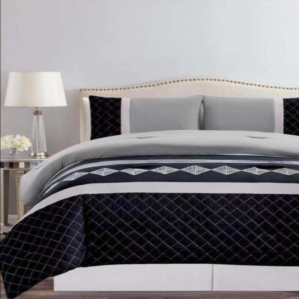 Microfibre Embroidered comforter set - Grace - CQ Linen Quality Bedding