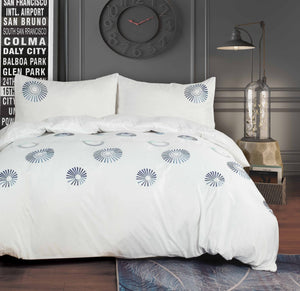Soft Touch Embroidered Duvet Cover Set -Jolie