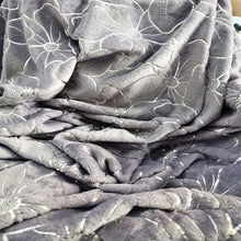 Load image into Gallery viewer, Flannel Metallic Printed Throw - light grey - CQ Linen Quality Bedding