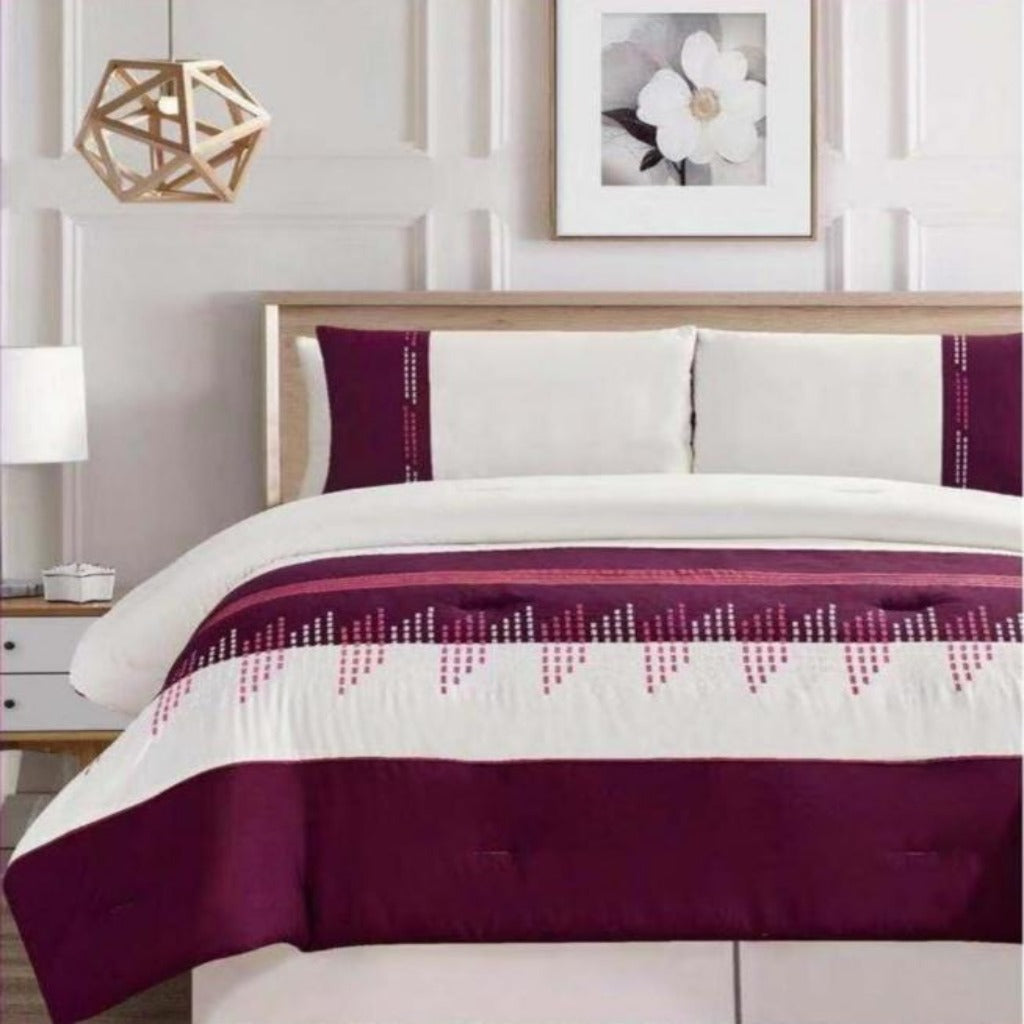 Microfibre Embroidered Comforter Set - Marilyn - CQ Linen Quality Bedding