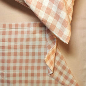 100% Brushed Cotton Winter Bale Set - Pink Checked Print - CQ Linen Quality Bedding
