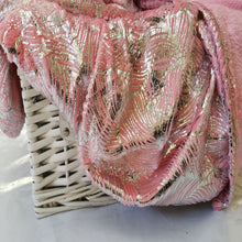 Load image into Gallery viewer, Flannel Metallic Printed Throw - Pink - CQ Linen